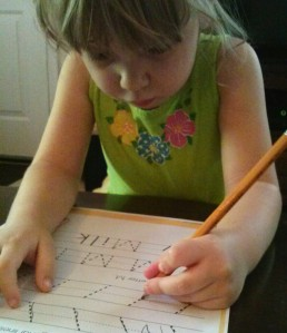 Learning the 'M' and Diagonal lines